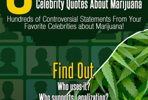 will send YOU over 300 celebrity quotes on marijuana, cannabis, weed ...