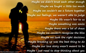 Romantic I miss you poem for ex-girlfriend