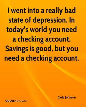 ... checking account. Savings is good, but you need a checking account