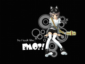 Do I Look Like Emo Quote desktop Wallpaper
