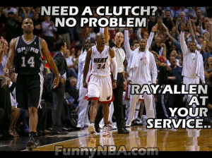 Ray Allen Clutch Solution for your Choking problem