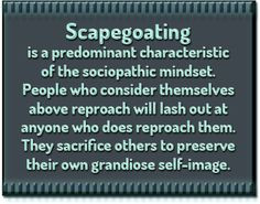 Narcissistic Tactic: Scapegoating...learn something new about your ...