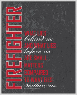 Firefighter Inspirational Wall Art Instant Printable Just 4 on