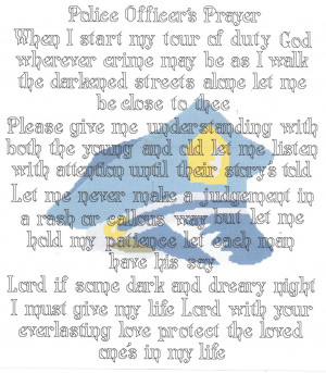 Law Enforcement Prayer Police officer prayer counted