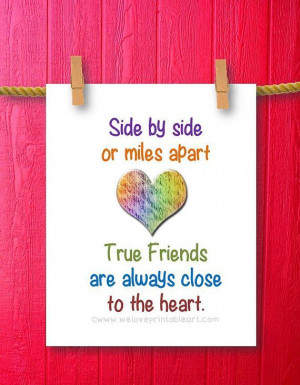 Gift for Best Friend Wall Decor Quote by WeLovePrintableArt.com