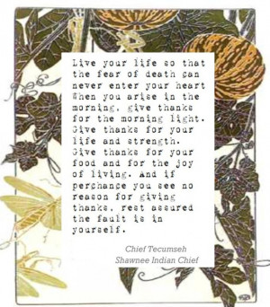 Chief Tecumseh Quotes http://cravecute.blogspot.com/2012/11/give ...