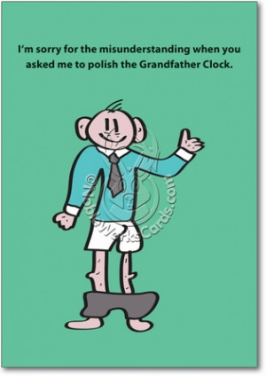 ... Grandfather Clock Unique Adult Humor Birthday Greeting Card Nobleworks