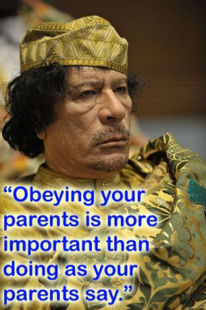 Muammar Gaddafi Quotes Funny