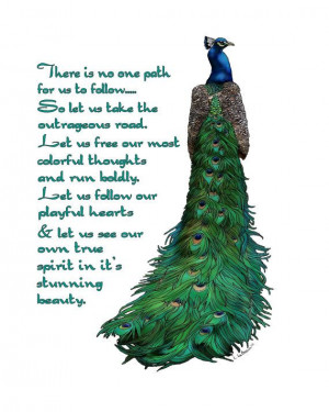 Peacock Word Art Print by LeBeau on Etsy