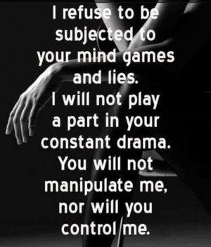 No mind games, no drama, no kidding...