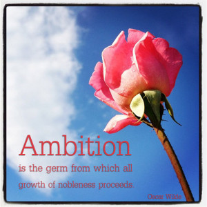 Inspirational Quote: Ambition