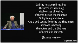Call the miracle self-healing: The utter self-revealing double-take of ...