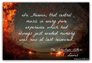 That central music. C. S. Lewis