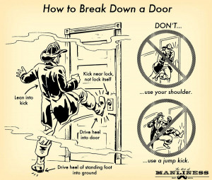 How to Break Down a Door: An Illustrated Guide