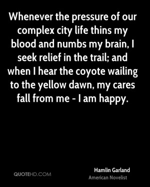 ... coyote wailing to the yellow dawn, my cares fall from me - I am happy