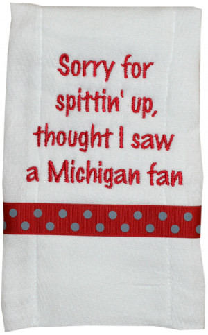 , school spirit burp cloth, funny burp cloth sayings, funny sayings ...