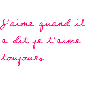 love when he said i love you always' alana's french quote