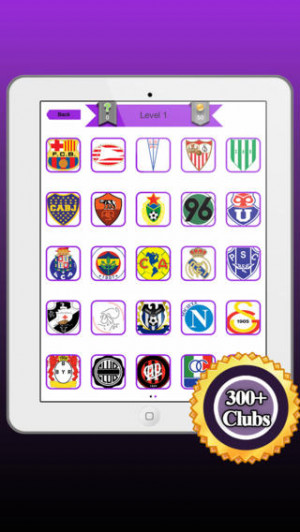 View Bigger Football Soccer Logos Quiz For Iphone Screenshot