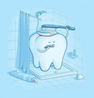 bano, diente, crema, dental