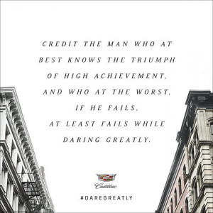 Cadillac Credit The Man quote