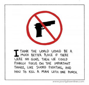 ... with one punch. http://www.lbsommer-author.yolasite.com/gun-signs.php