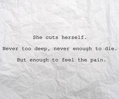 Self Harm Sayings