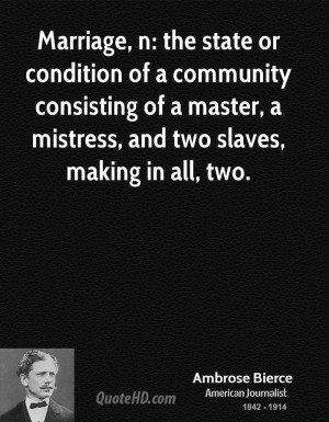 ... of a master, a mistress, and two slaves, making in all, two