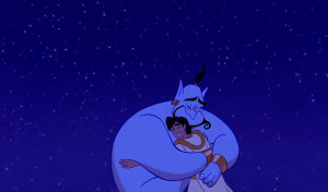 Oh boy. Just when you think the Genie is all jokes he says something ...