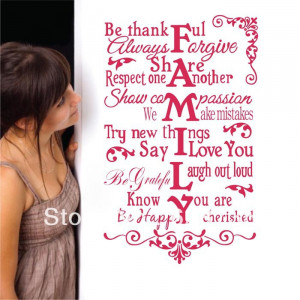 size house rules Be thankful always forgive..romantic family quotes ...