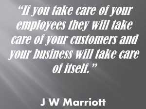 importance of employees quote J W Marriott