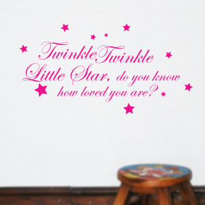 Details about TWINKLE TWINKLE LITTLE STAR Kids Wall Quotes Words Wall ...