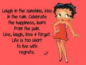 Laugh In The Sunshine, Kiss In The Rain Betty Boop Graphic