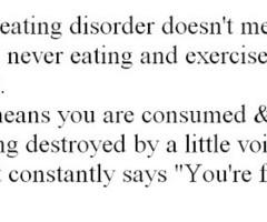 Eating Disorder Quotes Tumblr Eating disorder