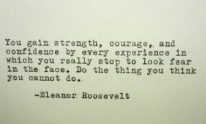 ELEANOR ROOSEVELT Inspirational Quote Famous by PoetryBoutique, $9.00