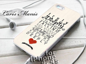 truly #madly #deeply #quotes #one #direction #iPhone4Case # ...