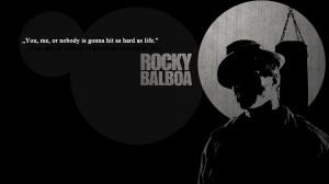 Rocky Balboa quote Wallpaper