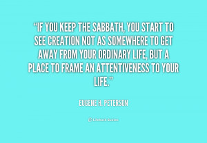 Sabbath Inspirational Quotes