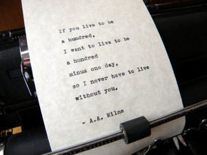 Milne Quote Handtyped on Vintage Typewriter by DaysLongPast, $10 ...
