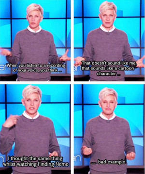 tagged with Funny Ellen Degeneres Quotes - 25 Pics