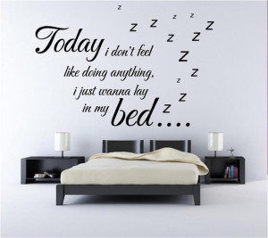 ... Quotes for Bedrooms : Inspirational Quotes Wall Art Simple Bedroom
