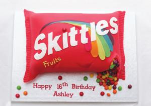 Skittlescake