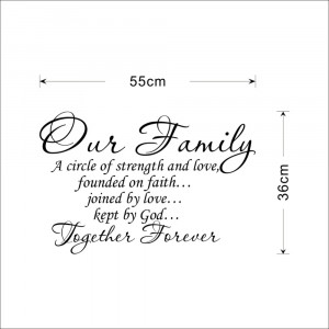 Our Family Together Forever quotes Letter Pattern Design PVC Removable ...