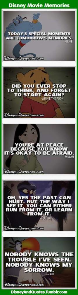 Inspirational Quotes: Disney Movie Memories