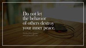 of others destroy your inner peace. happy life quote instagram quotes ...