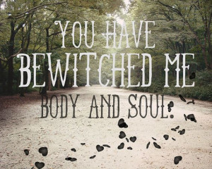 ... Forest, Gothic, Hearts, Wind, Quote, Typography - Bewitched, Soul