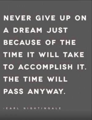 dream is just a wish goal quote never give up quote