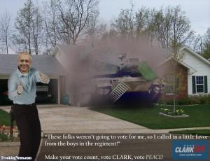 Wesley Clark Advertisement pictures
