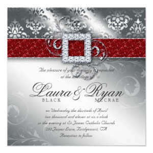 CHRISTMAS THEMED WEDDING: INVITATION CARDS