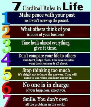 rules in life...