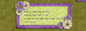 Maya Angelou Quote Facebook Cover Preview